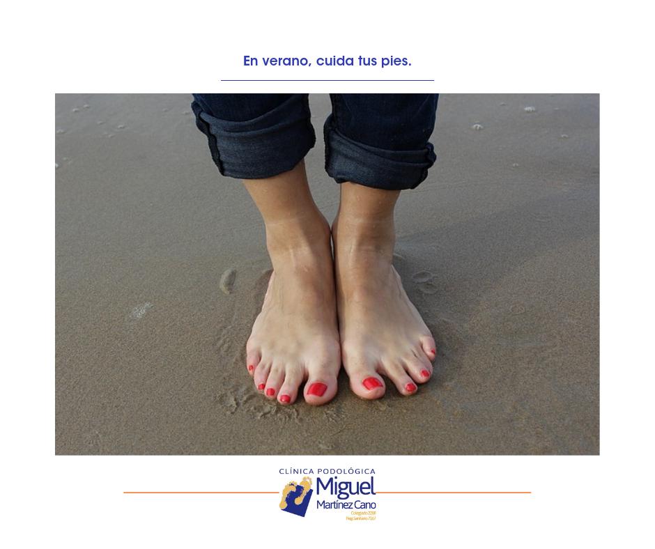 Clínica Podológica Miguel Martínez, recomendaciones para cuidar los pies en verano