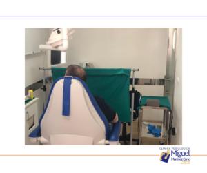 Paciente con complicación para la deambulación por afectación infantil